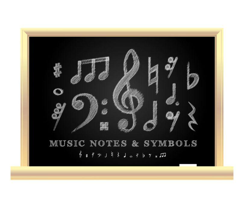 29840233 – handwritten musical notes